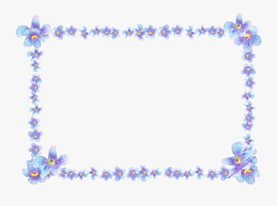 Flowers Clipart Frame Borders, Transparent Clipart