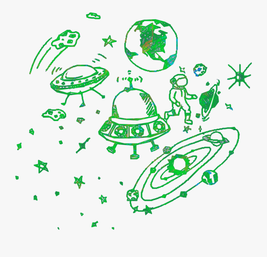 #galaxy #space #alien #planets #saturn #stars #spaceship - Illustration, Transparent Clipart