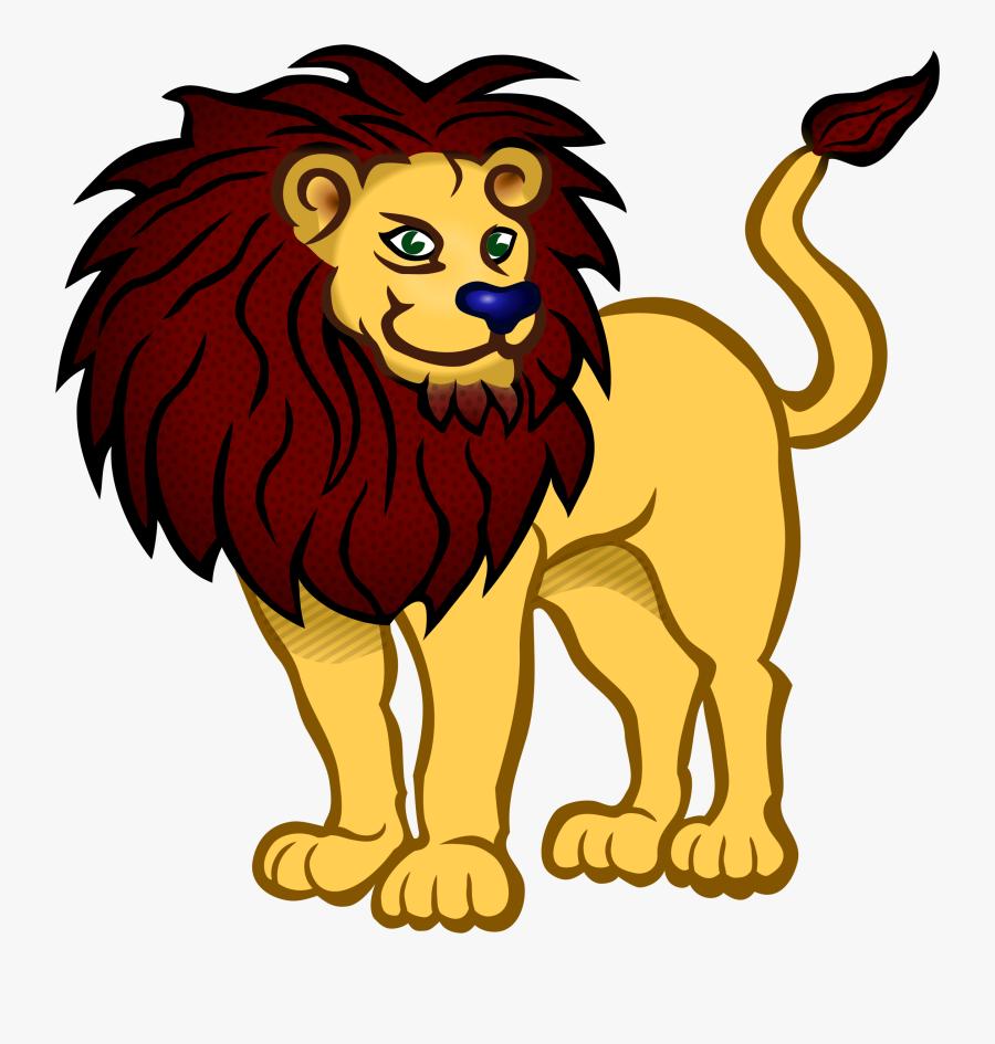 Lions Clipart Colored - Lion Animals Coloring Pages, Transparent Clipart