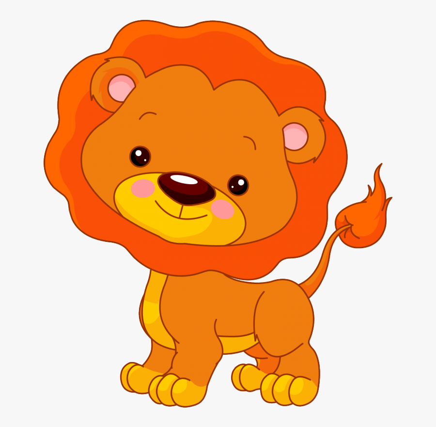 Transparent Baby Lion Clipart - Jungle Animals Cartoons Lion, Transparent Clipart