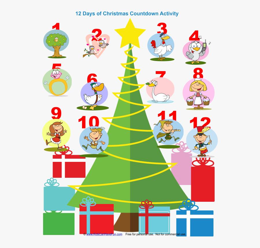 Transparent 12 Days Of Christmas Png - Twelve Days Of Christmas Maths, Transparent Clipart