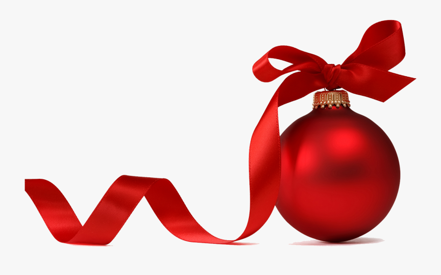 Christmas Ornament With Ribbon, Transparent Clipart