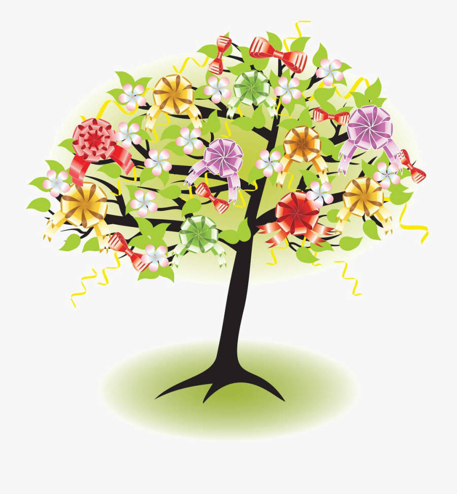Tree Photography Clip Art - Tree Flower Cartoon Png, Transparent Clipart