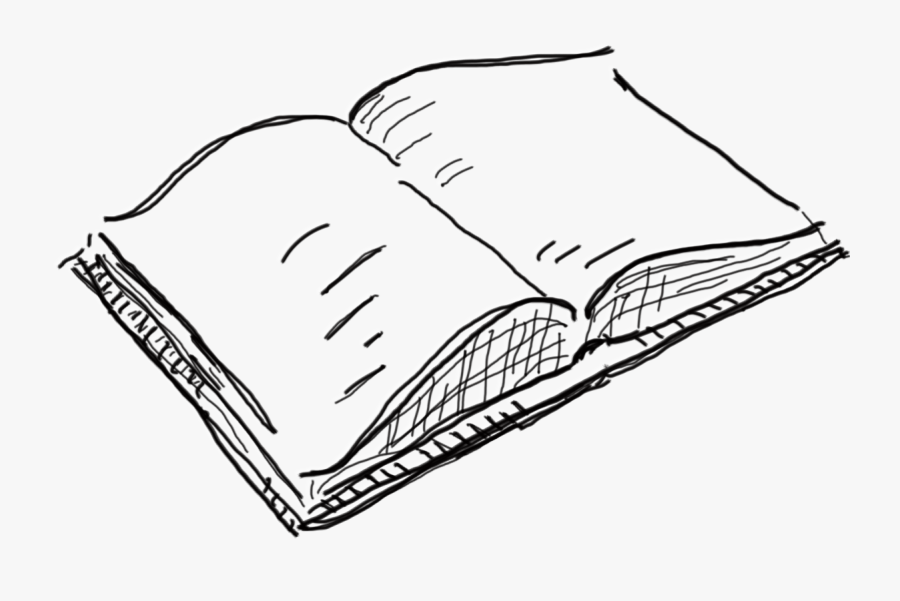 Books Drawing Open Book - Open Book Drawing Png, Transparent Clipart
