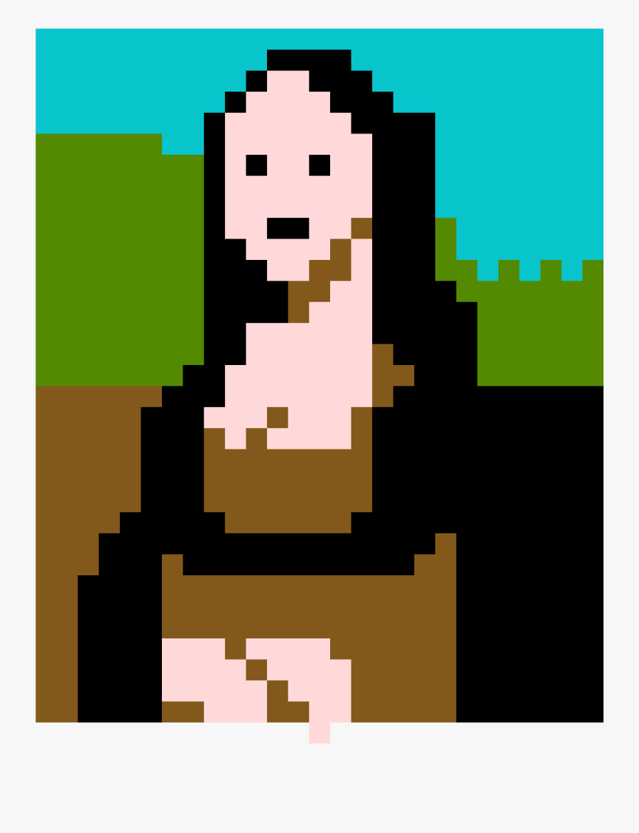 Pixel Art Monalisa Free Transparent Clipart Clipartkey