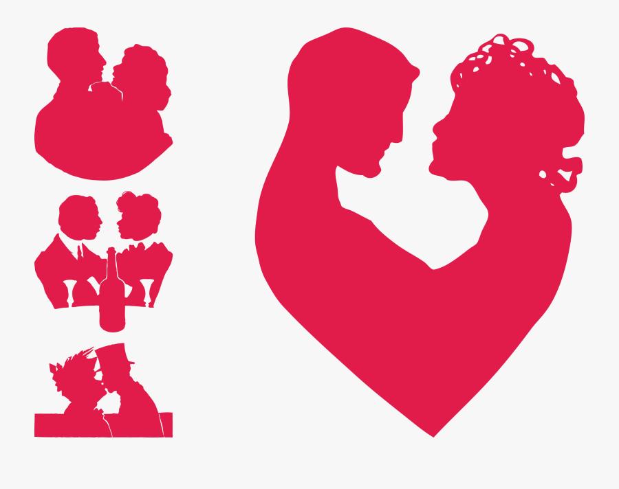 Clip Art Couples Silhouette Love Clip Art - Love Couples Vector Png, Transparent Clipart