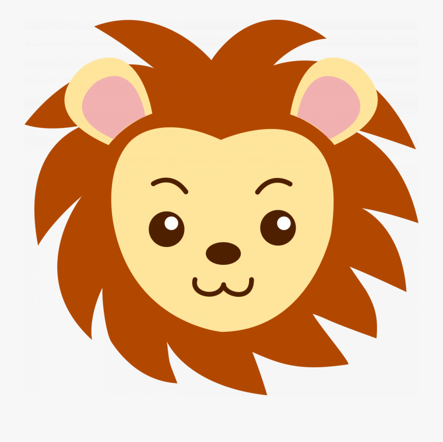 Large Size Of How To Draw A Cartoon Lion Step By Easy - Cartoon Lion Face Drawing, Transparent Clipart