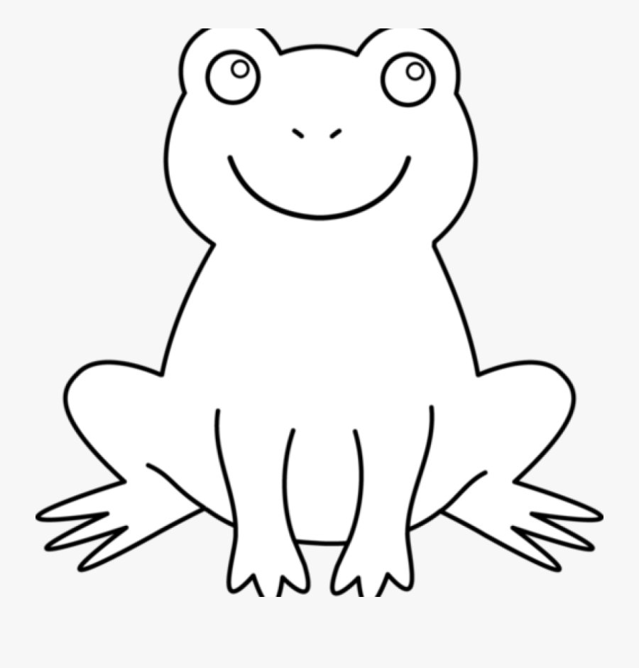 Black And White Frog Clipart 19 Frog Png Transparent - Frog Outline Black Background, Transparent Clipart