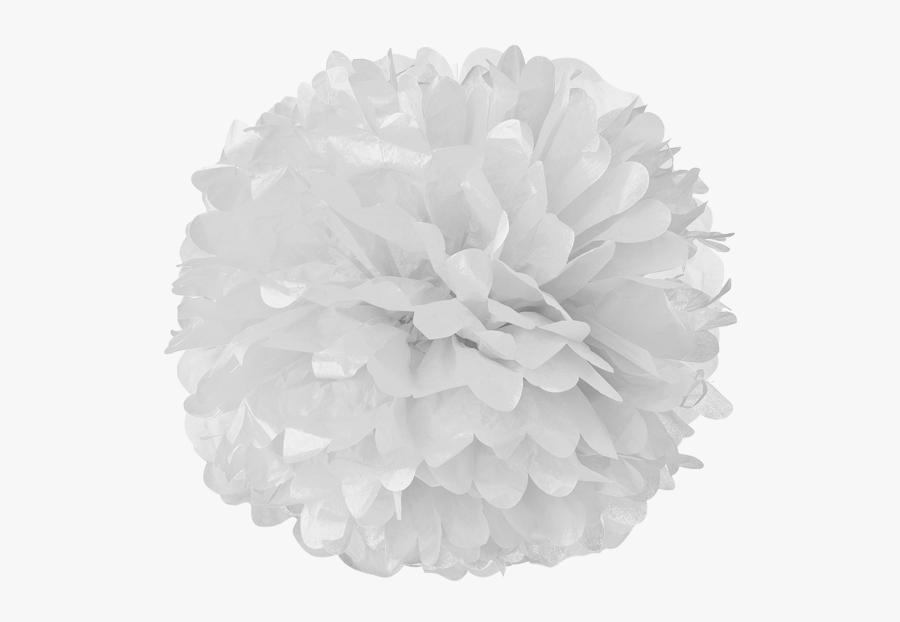 White Tissue Pom Poms - White Pom Poms Png, Transparent Clipart