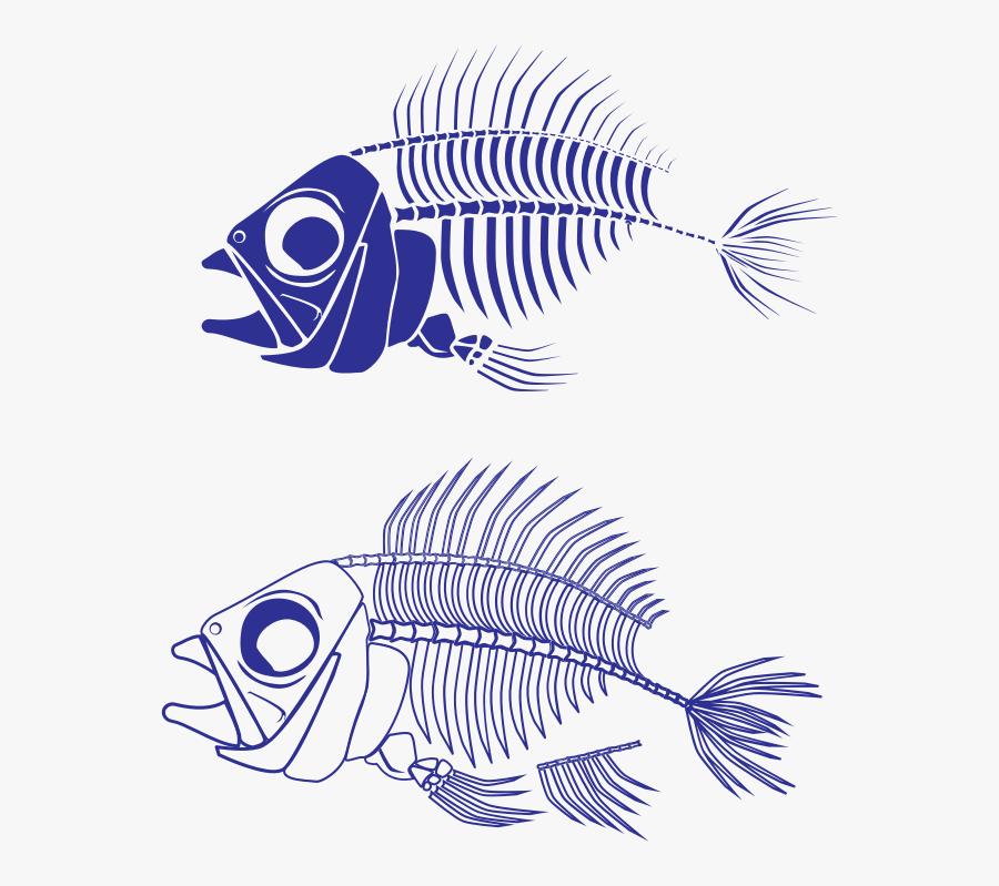 Fish Skeleton - Scary Skeleton Fish Clipart, Transparent Clipart