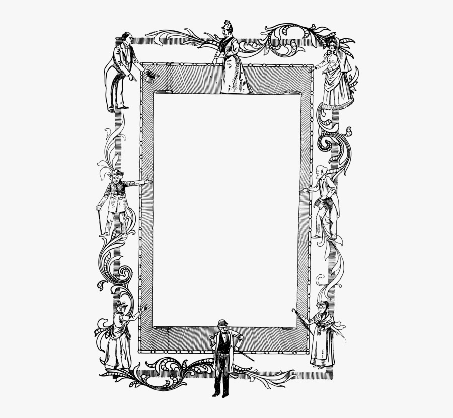 Picture Frame,line Art,monochrome Photography - Picture Frame, Transparent Clipart