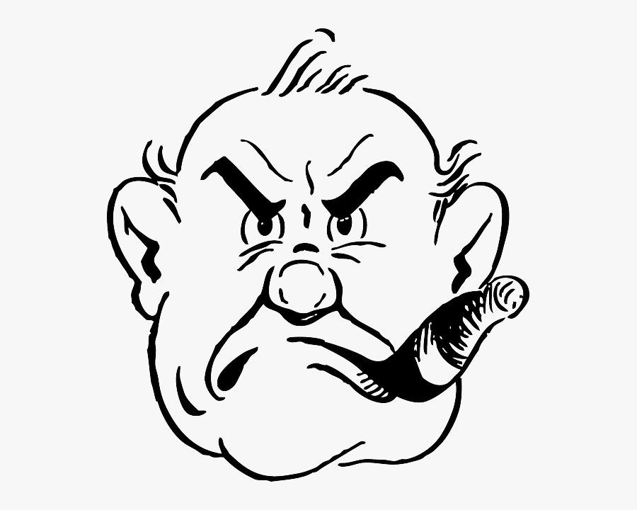 Gruff Man Clipart, Transparent Clipart