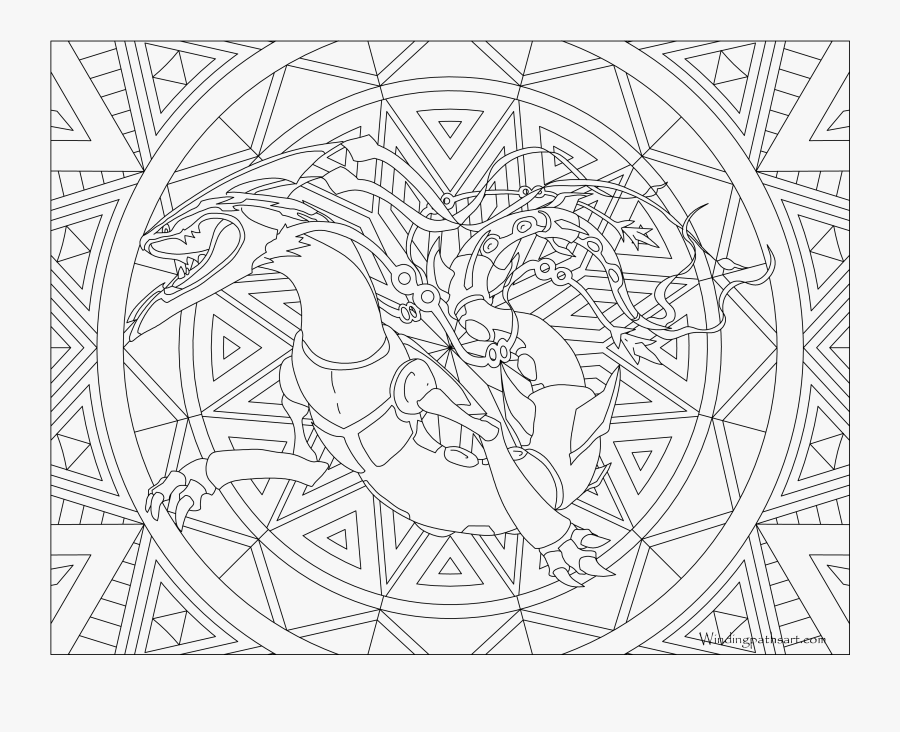 384 Mega Rayquaza Pokemon Coloring Page Detailed Pokemon Coloring Pages Free Transparent Clipart Clipartkey