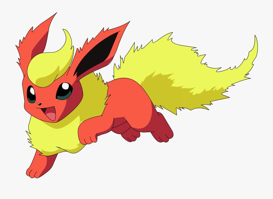 Flareon Pokemon Transparent Png - Pokemon Eevee Evolutions Flareon, Transparent Clipart
