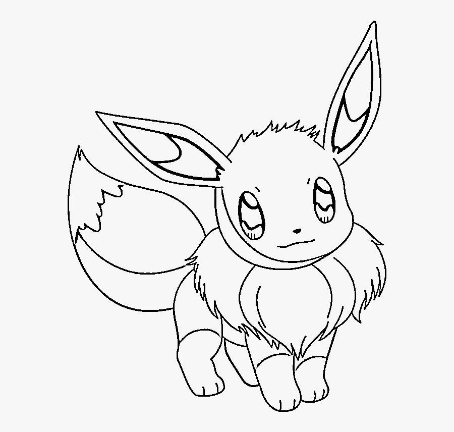 Pokemon Eevee Coloring Pages - Evie Coloring Pages Pokemon, Transparent Clipart