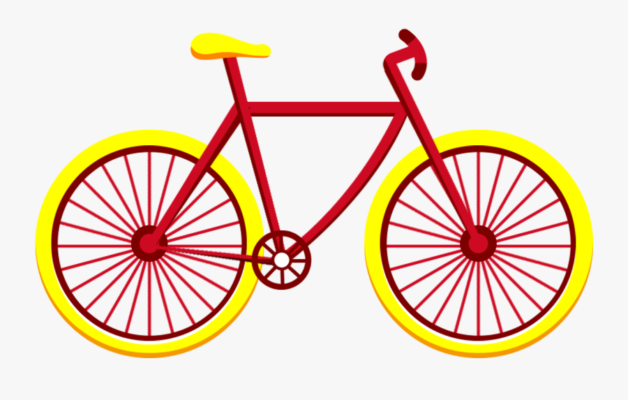 Red Yellow Bicycle Vehicle Flat Wind Png And Psd - Fulcrum Racing 1 2014, Transparent Clipart