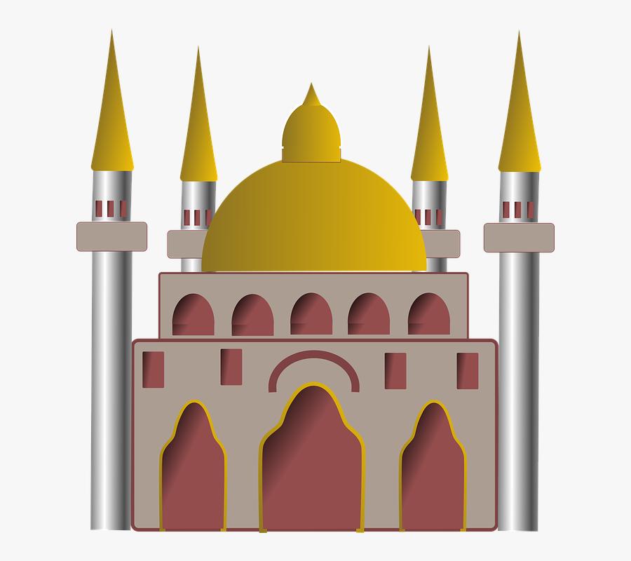 Mosque Clipart Islamic School - Mosque Building Clipart Png, Transparent Clipart