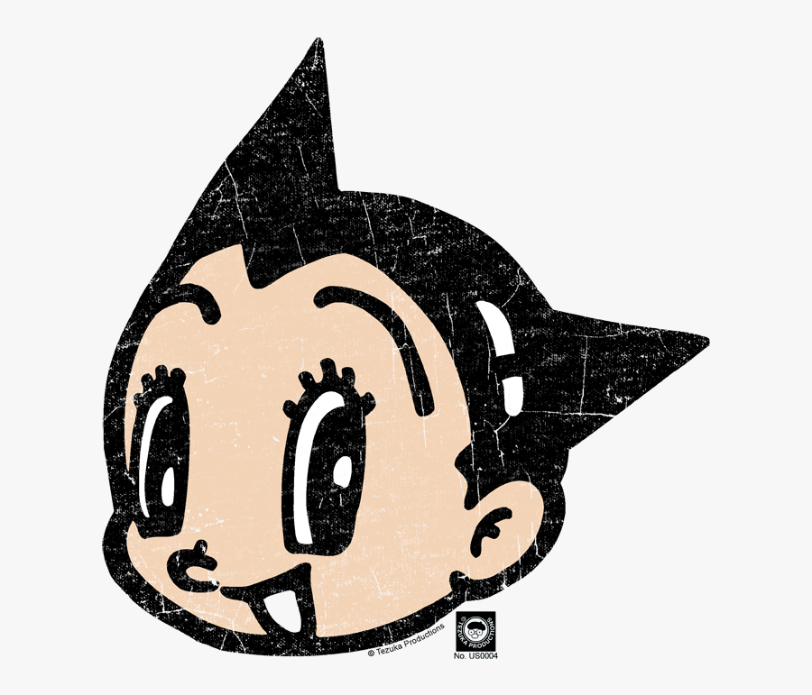 Astro Boy Face Toddler T-shirt - Outline Of Astro Boy, Transparent Clipart