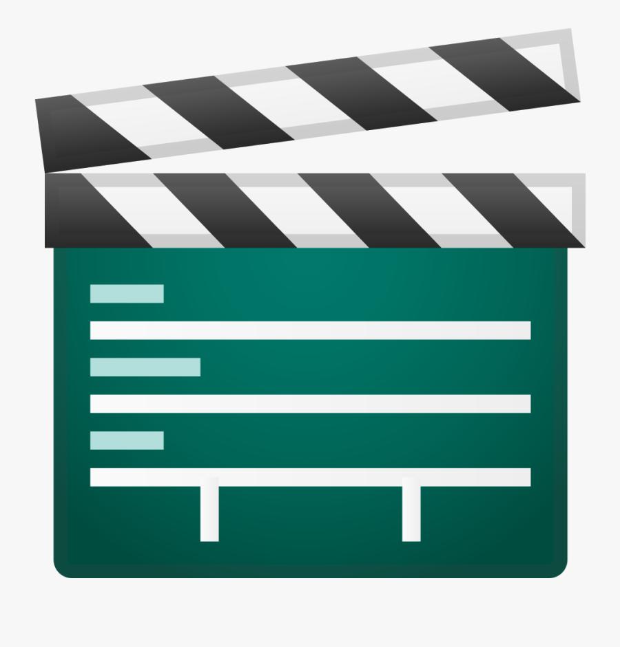 Clapper Board Icon - Emoji Clap Board Png, Transparent Clipart