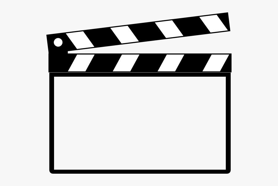 Clapperboard Moldura - Download - 4shared - Thel Produ��es - Clap Board Clip Art, Transparent Clipart