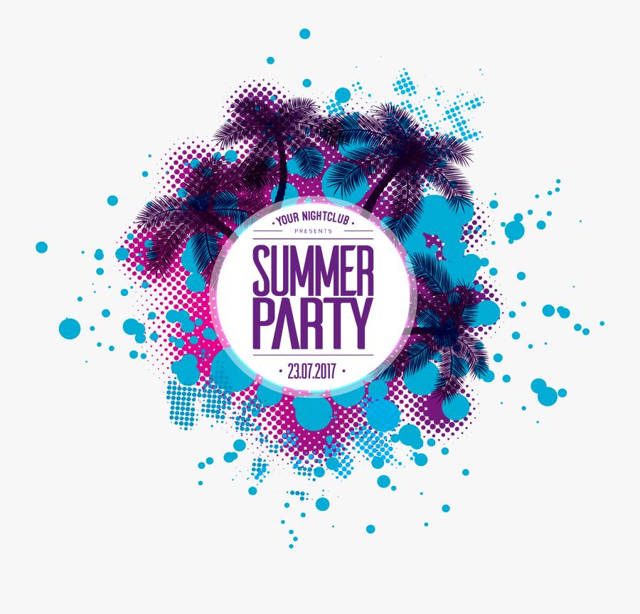 Summer Destin Walton Party Beach Fort Clipart - Summer Party Logo Png, Transparent Clipart