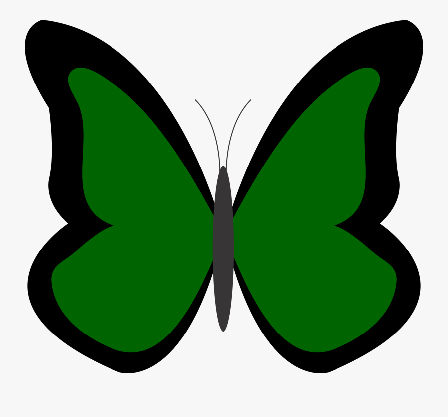 Transparent Pink Butterfly Png - Butterfly In Green Colour, Transparent Clipart