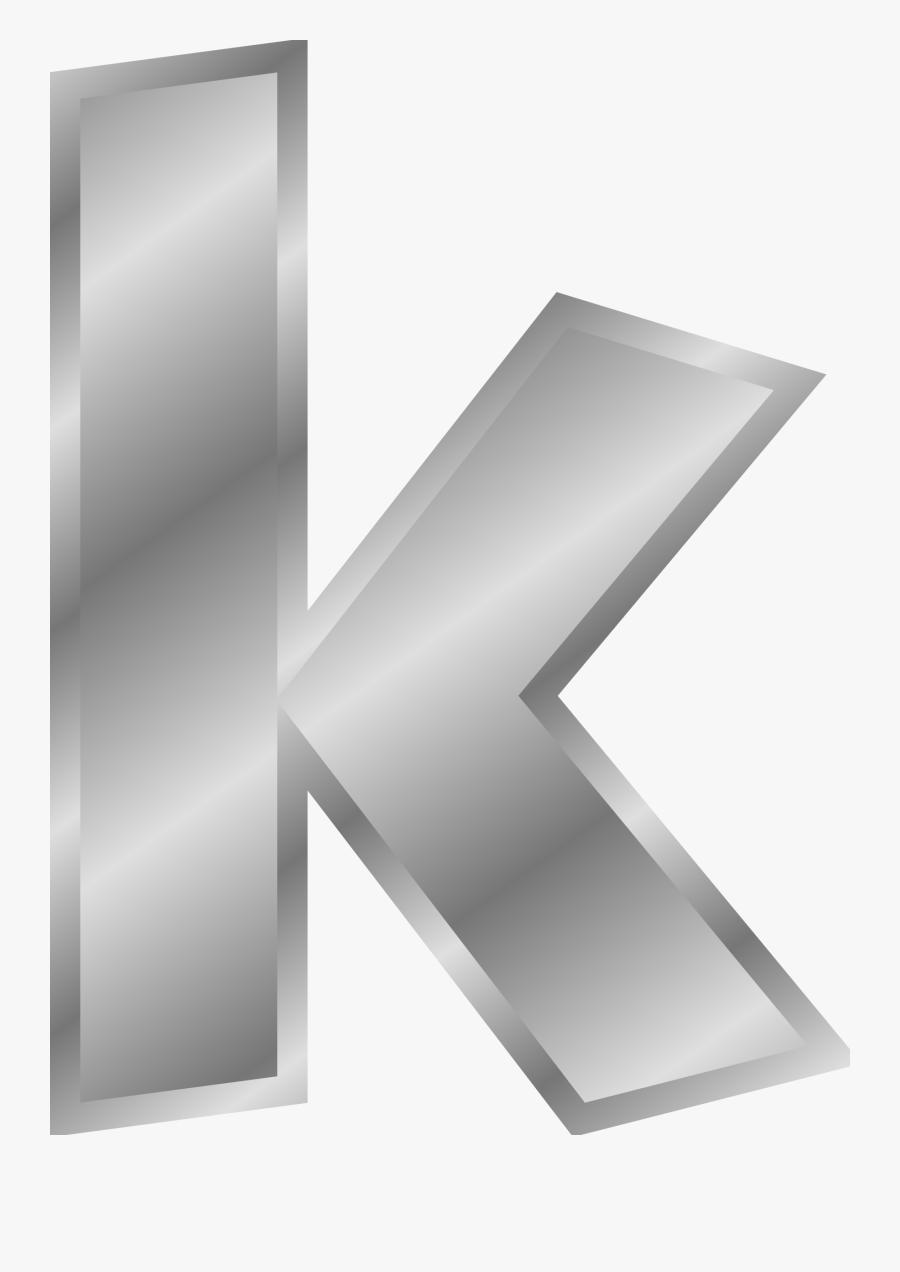 Line Png Letter K - Small Letter K Clipart, Transparent Clipart