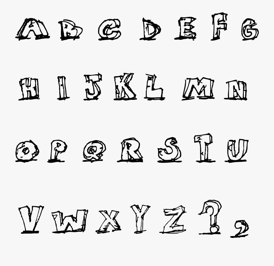 Blocky Letters, Transparent Clipart