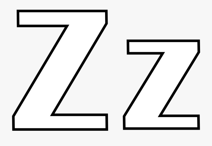 Letter Z Coloring Pages - Letter Z Clipart Black And White, Transparent Clipart