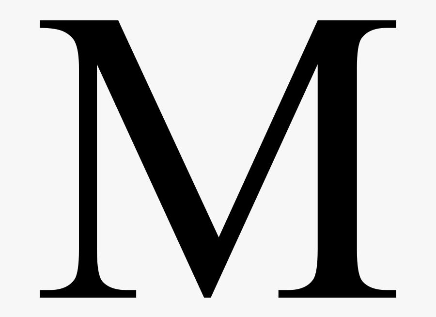 Greek Letter M Clipart , Png Download - Letter M Clip Art, Transparent Clipart
