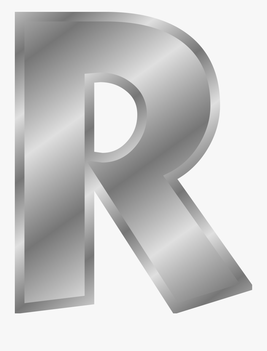 Clipart - Letter R In Gold, Transparent Clipart
