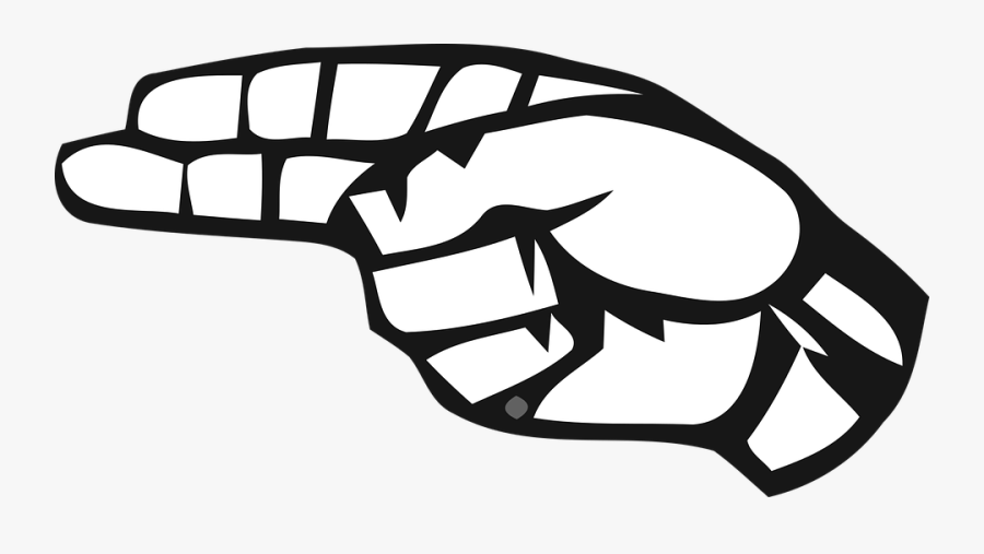 H In American Sign Language, Transparent Clipart