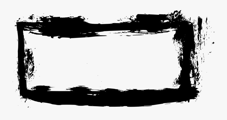8 Grunge Rectangle Frame Banner - Clipart Grunge Frame Png, Transparent Clipart