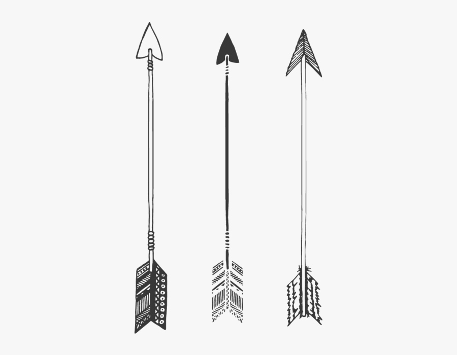 Tribal Arrow Png Photos - Black And White Tribal Arrows, Transparent Clipart