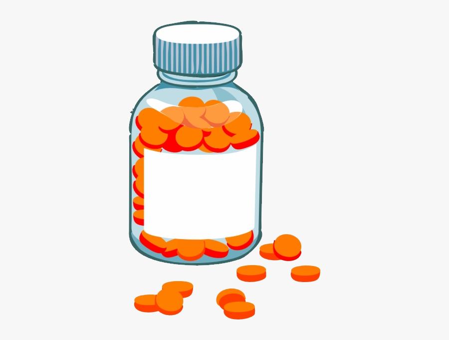 Vitamins Png - Medicine Bottle Clipart, Transparent Clipart