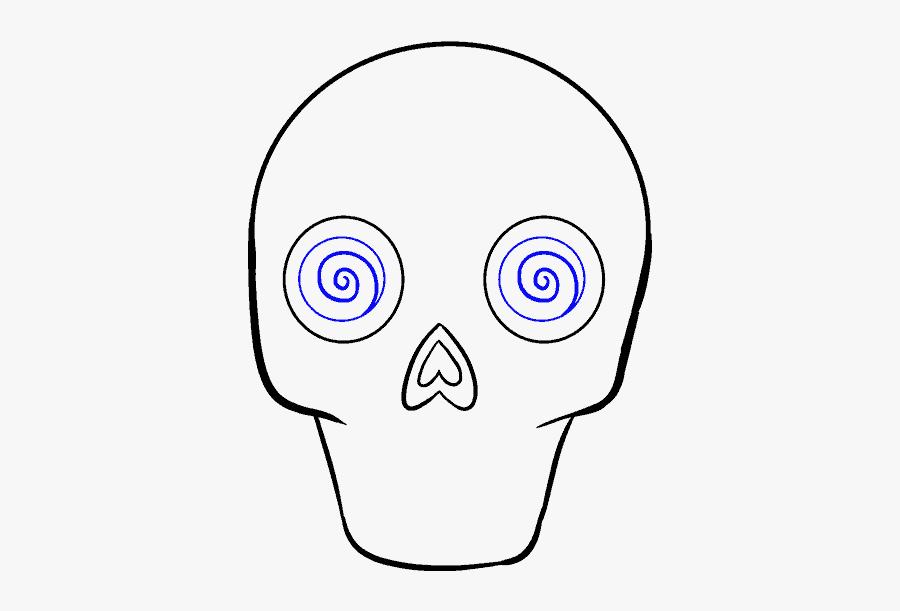How To Draw Sugar Skull - Dia De Los Muertos Easy Drawings, Transparent Clipart