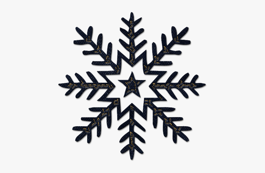 Collection Of Dark - Transparent Background Snowflake Clipart, Transparent Clipart