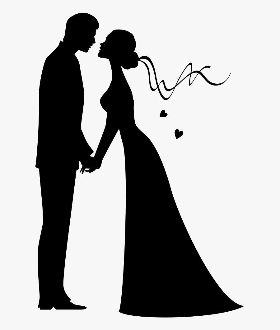 Bride and Groom Clip Art Black and White