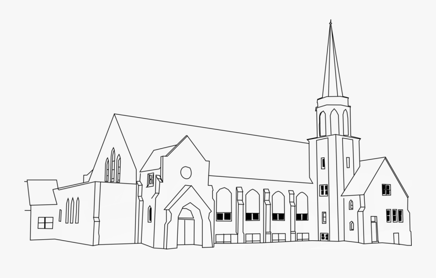 House,church,facade - Medieval Church Clipart, Transparent Clipart