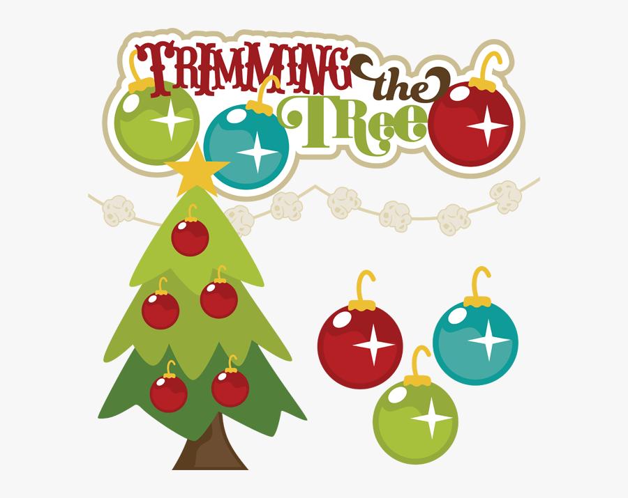 Christmas Tree Trimming Clip Art, Transparent Clipart