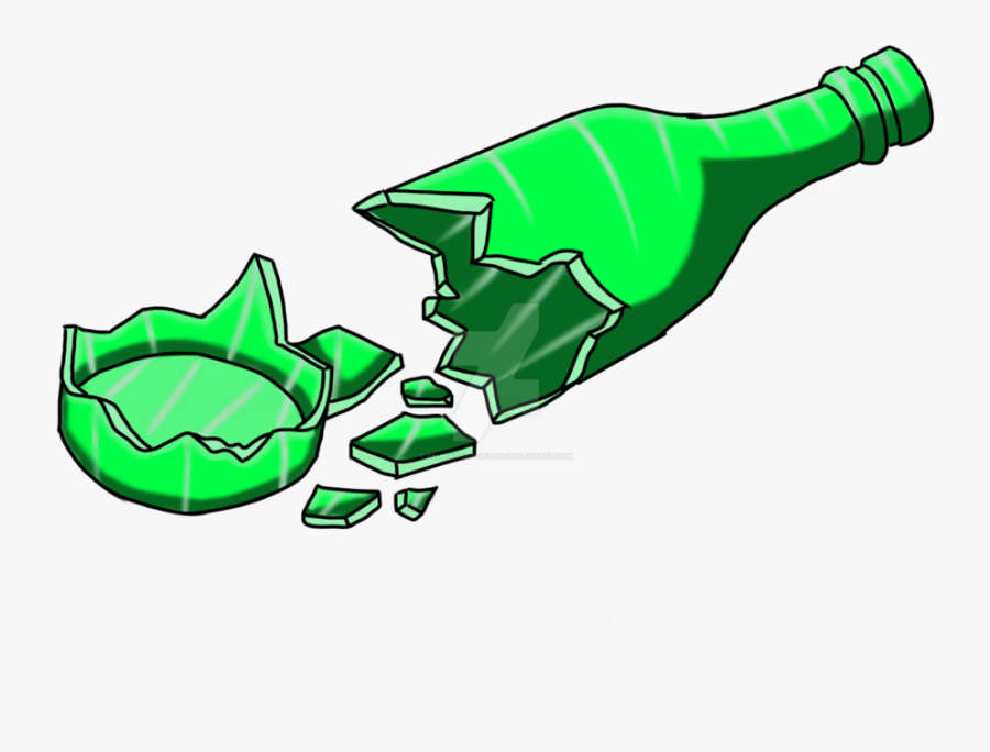Collection Of Smashed - Broken Glass Bottle Transparent, Transparent Clipart