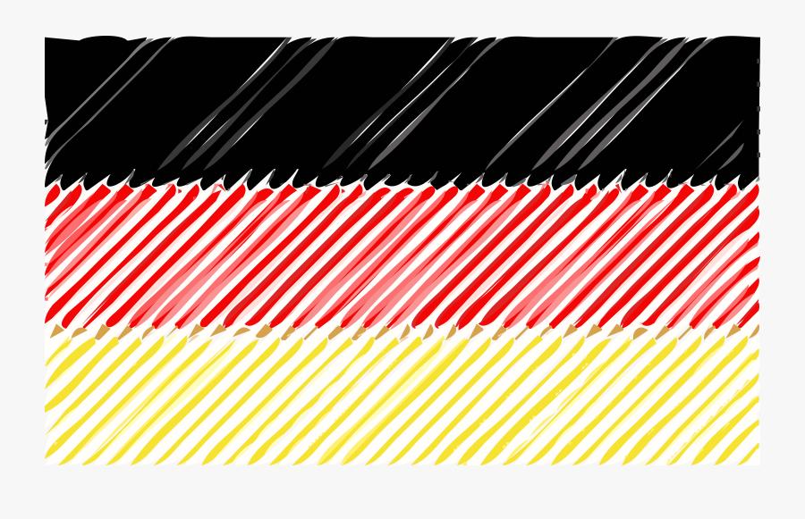 German Flag Linear Clip Arts - Portable Network Graphics, Transparent Clipart