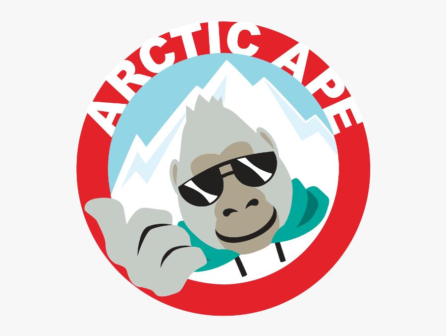 Arctic Ape Large Logo, Transparent Clipart