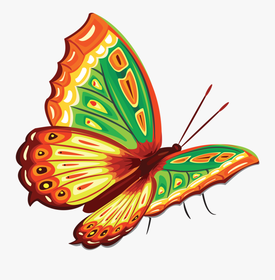 Butterfly Painting, Butterfly Clip Art, Clipart, Butterflies, - Butterfly In Color, Transparent Clipart