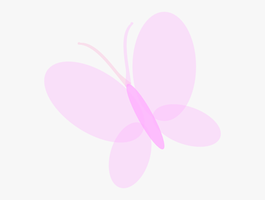 Thumb Image - Light Pink Butterfly Clip Art, Transparent Clipart