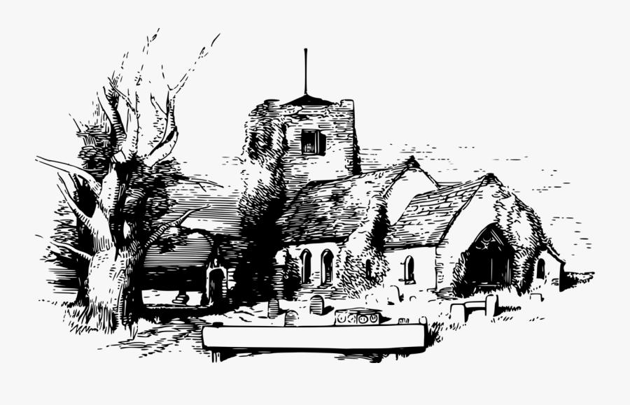 Building,visual Arts,art - Christian Church, Transparent Clipart