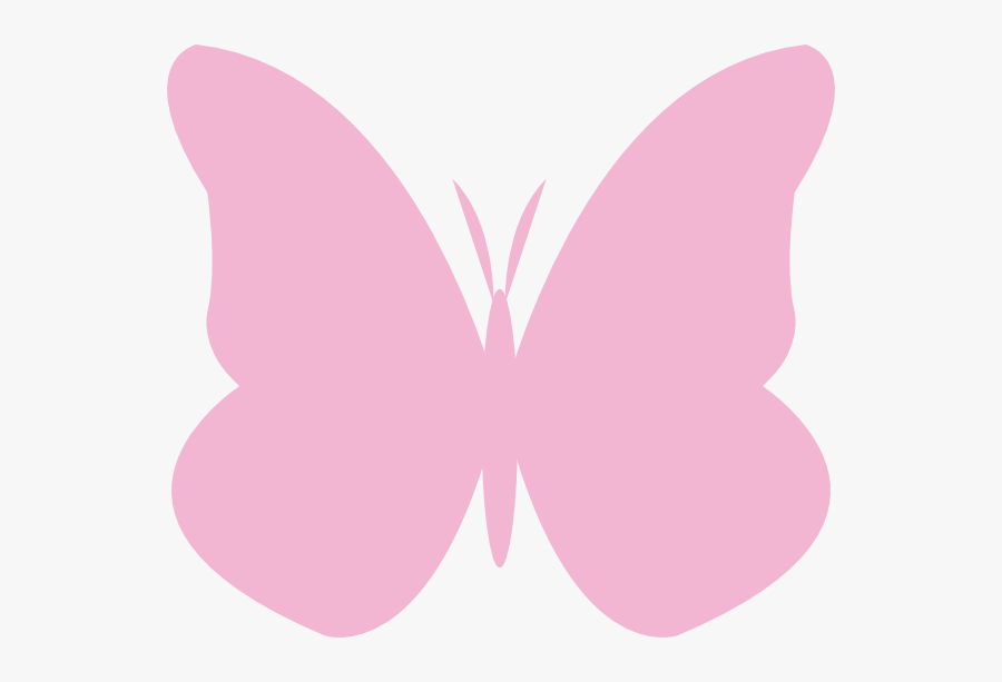 Thumb Image - Light Pink Butterfly Outline, Transparent Clipart