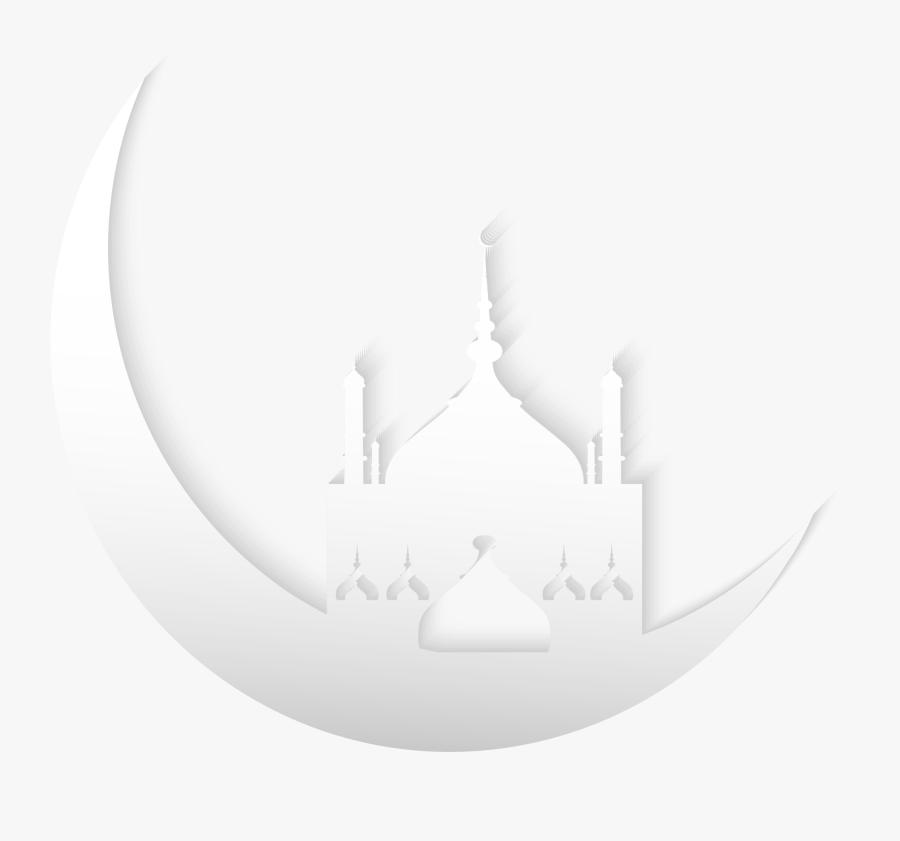 Pattern Al Moon Black Eid Church Fitr Clipart - Black Background Png Eid, Transparent Clipart