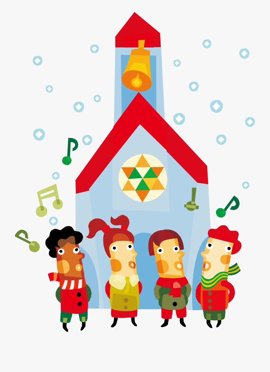 Christmas Caroling Clipart Black