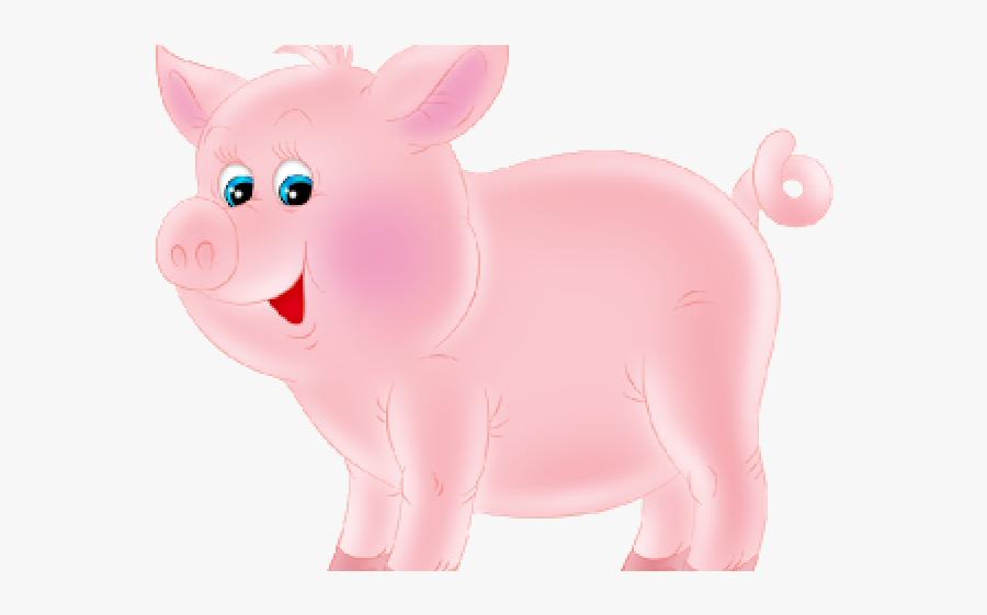 Farm Animals Clipart Pig - Pig Farm Animal Clipart, Transparent Clipart